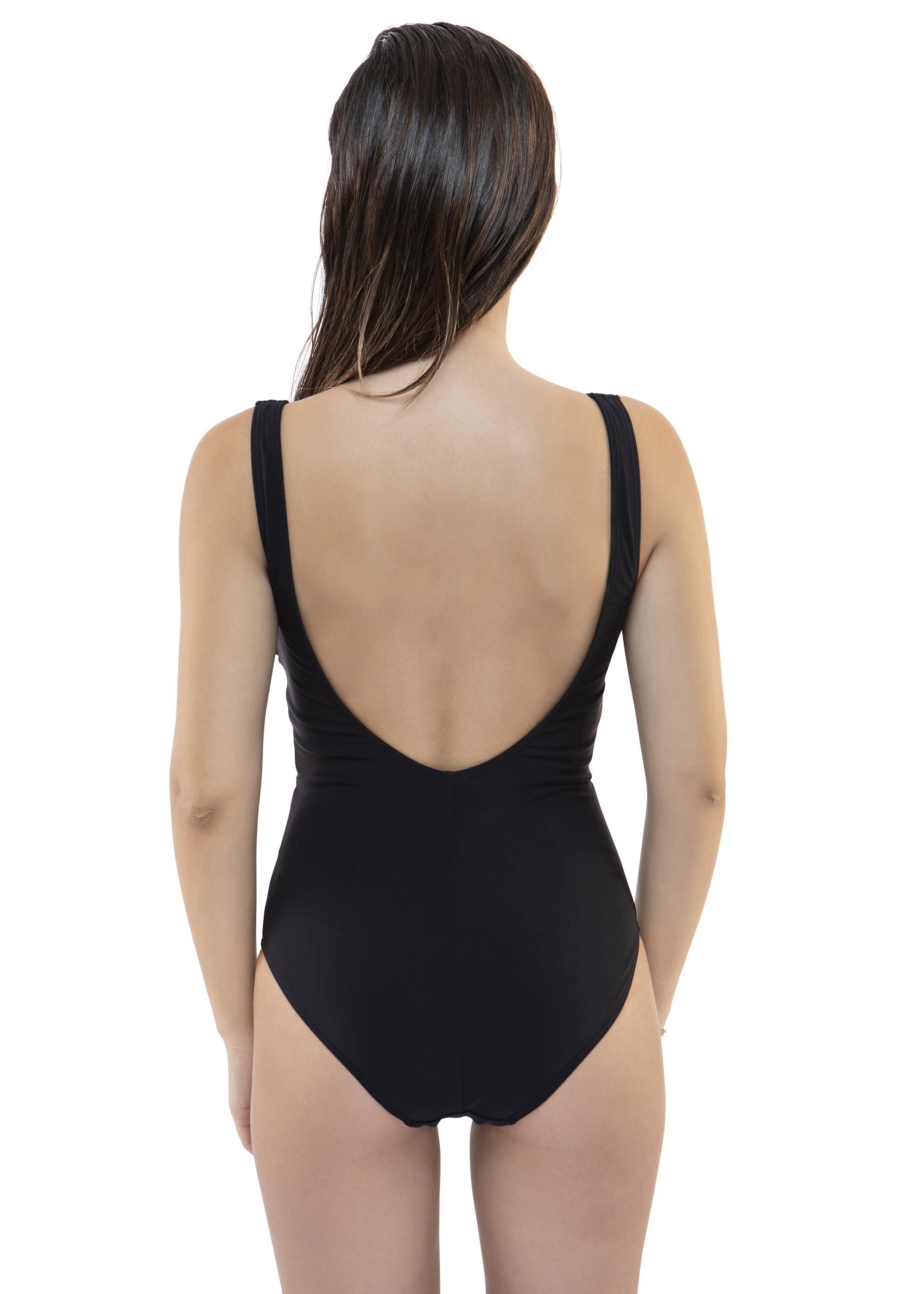 664035 בגד ים שלם עם איקסים (Swimsuit)