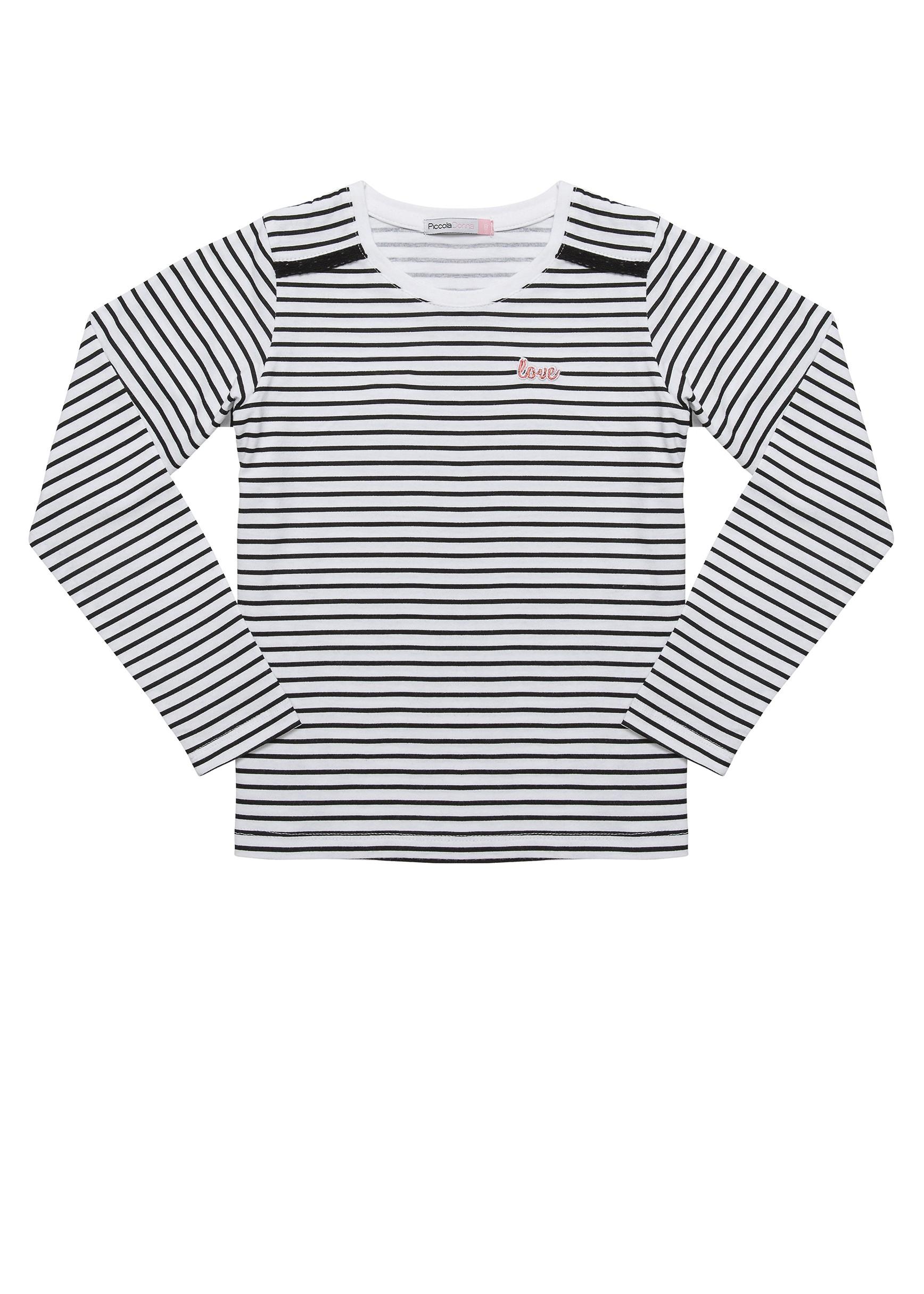 חולצת טישרט שרוול ארוך לבנות