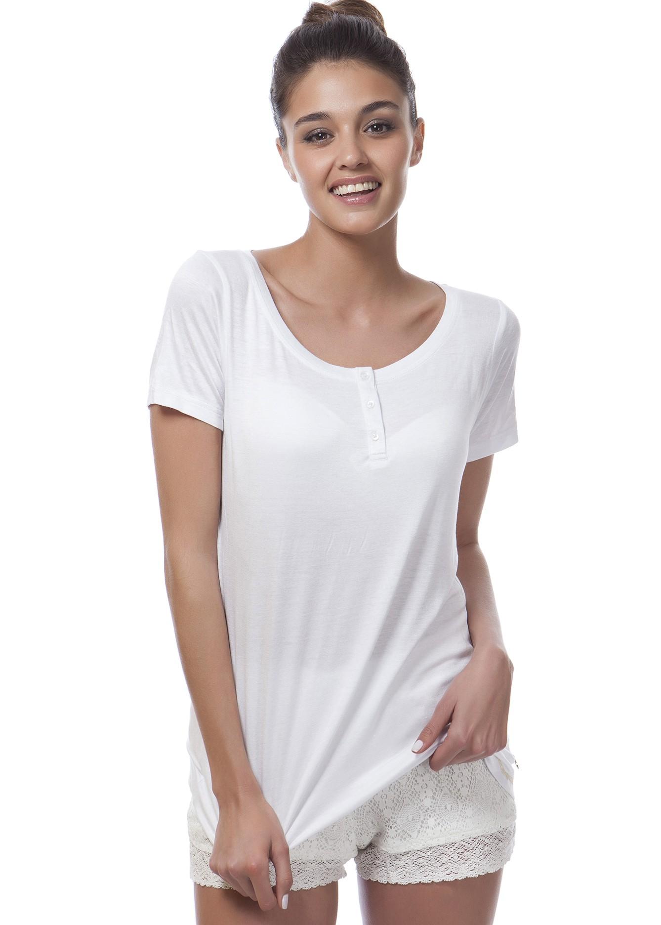 חולצת שרוול קצר ויסקוזה-לייקרה