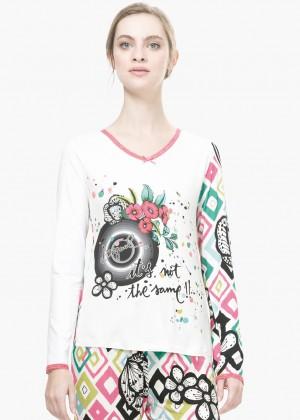 (חולצה בלבד)  B&W ROMBOS חולצת