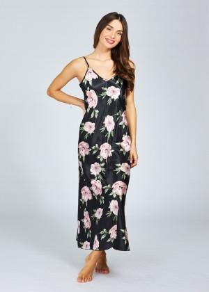 כותונת מקסי מודפס פרחים (SexySleepwear)