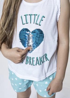 """""""LITTLE HEART BREAKER"""" פיג'מת ילדות"""