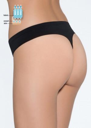 17001 תחתון חוטיני ללא תפר אפרודיטה סימלסשחורS (Panties)